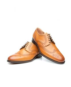 Brown brogues shoes