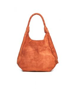 Handbag Brown Suede