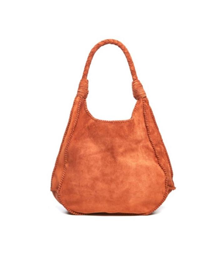 Handbag Brown Suede