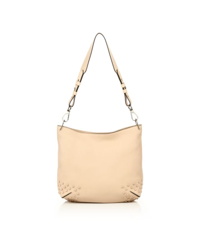 Handbag Leather Off White