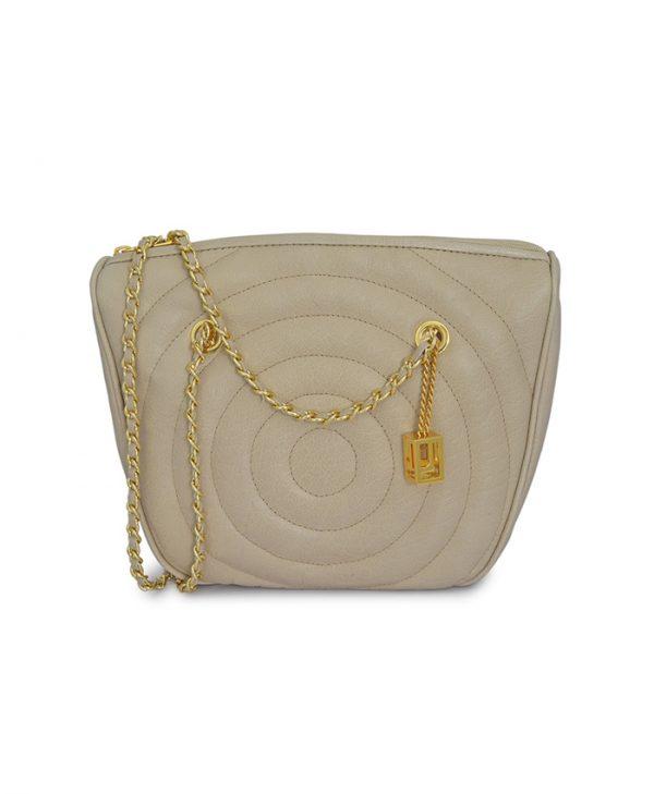 Handbag Round Beige