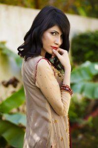fawn color bridal dress