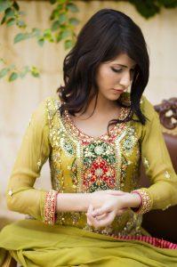 Mehndi Dress by Pakistani designer