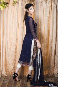 blue pakistani wedding dress