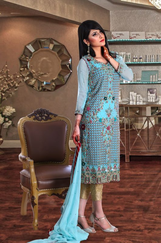 Light Blue dress pakistani