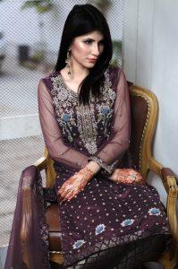 Purple Party dresses in Pakistan
