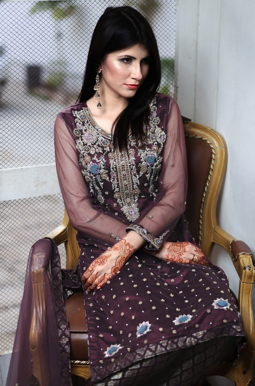 Purple Party dresses in Pakistan