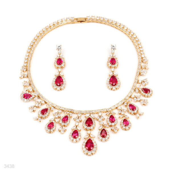 red necklace set online