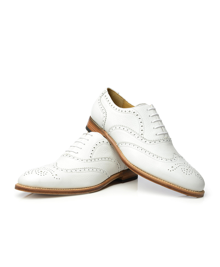 White Brogues Shoes