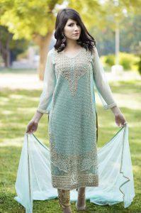 Blue Pakistani Party Dress
