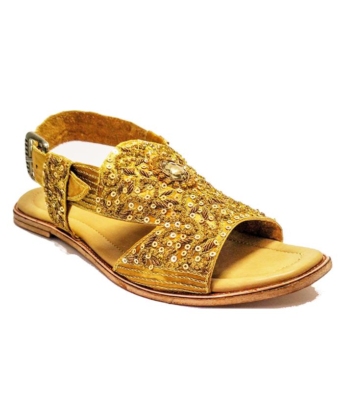 golden sandal online