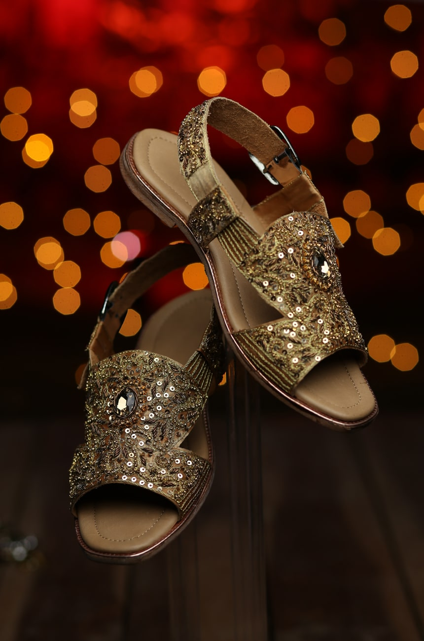 Golden Sandal Wedding