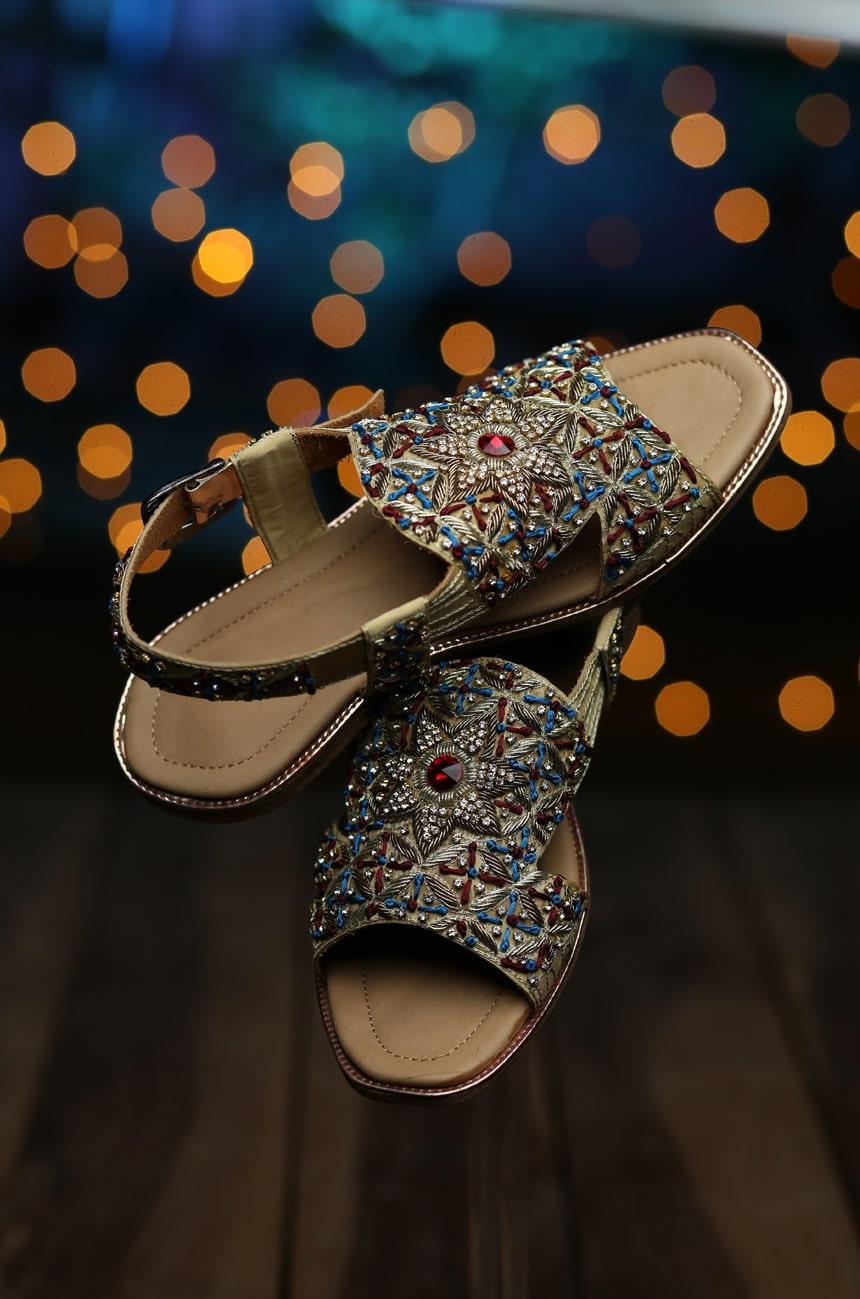 Golden Sandal Wedding