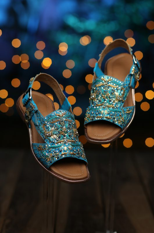 Blue dress sandal