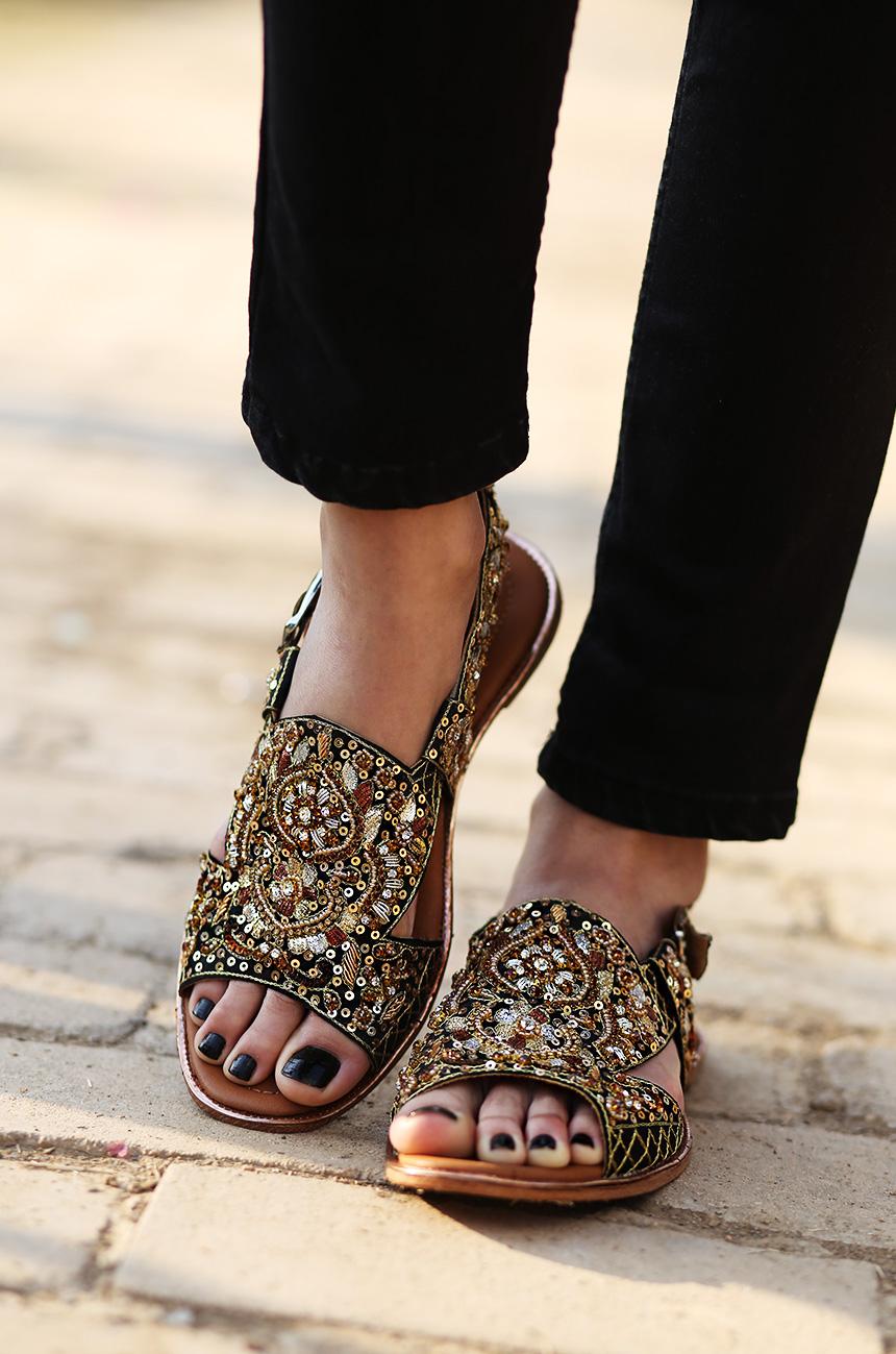 Black dress sandal