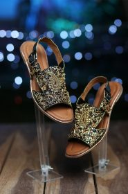 Embroidered Flat Sandal