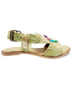 Green Flat Sandal